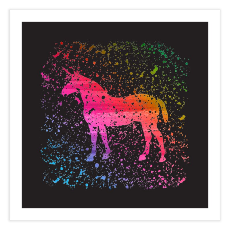 Unicorn Dreams Home Fine Art Print by Robyriker Designs - Elishka Jepson