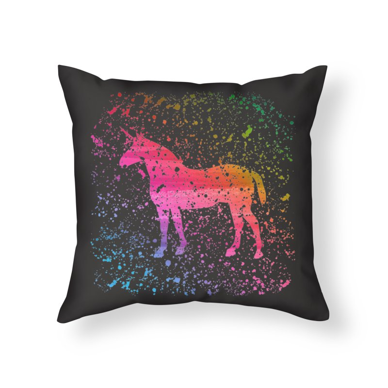 Unicorn Dreams Home Throw Pillow by Robyriker Designs - Elishka Jepson