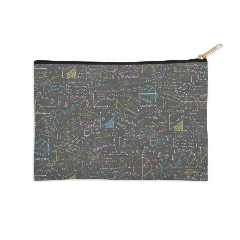 Math Lessons Accessories Zip Pouch by Robyriker Designs - Elishka Jepson
