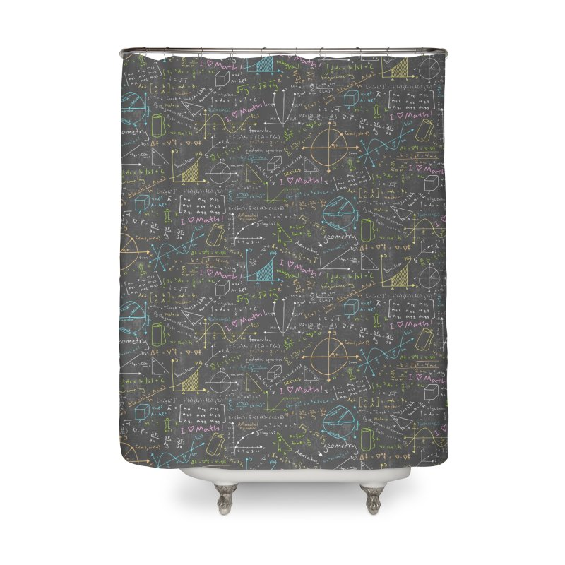 Math Lessons Home Shower Curtain by Robyriker Designs - Elishka Jepson