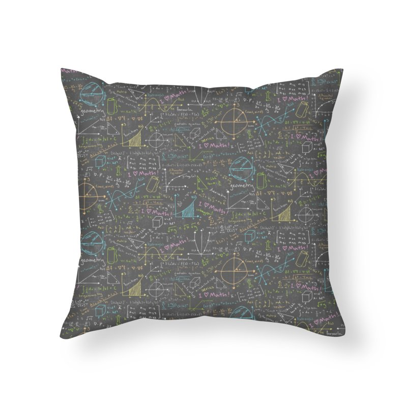 Math Lessons Home Throw Pillow by Robyriker Designs - Elishka Jepson