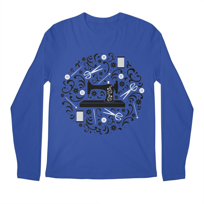 Sewing Essentials Men's Longsleeve T-Shirt by Robyriker Designs - Elishka Jepson