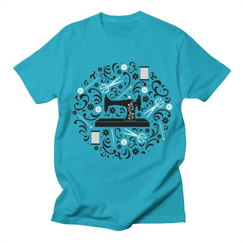 Sewing Essentials Men's T-shirt by Robyriker Designs - Elishka Jepson