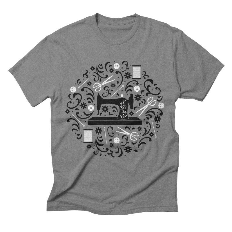 Sewing Essentials Men's Triblend T-Shirt by Robyriker Designs - Elishka Jepson