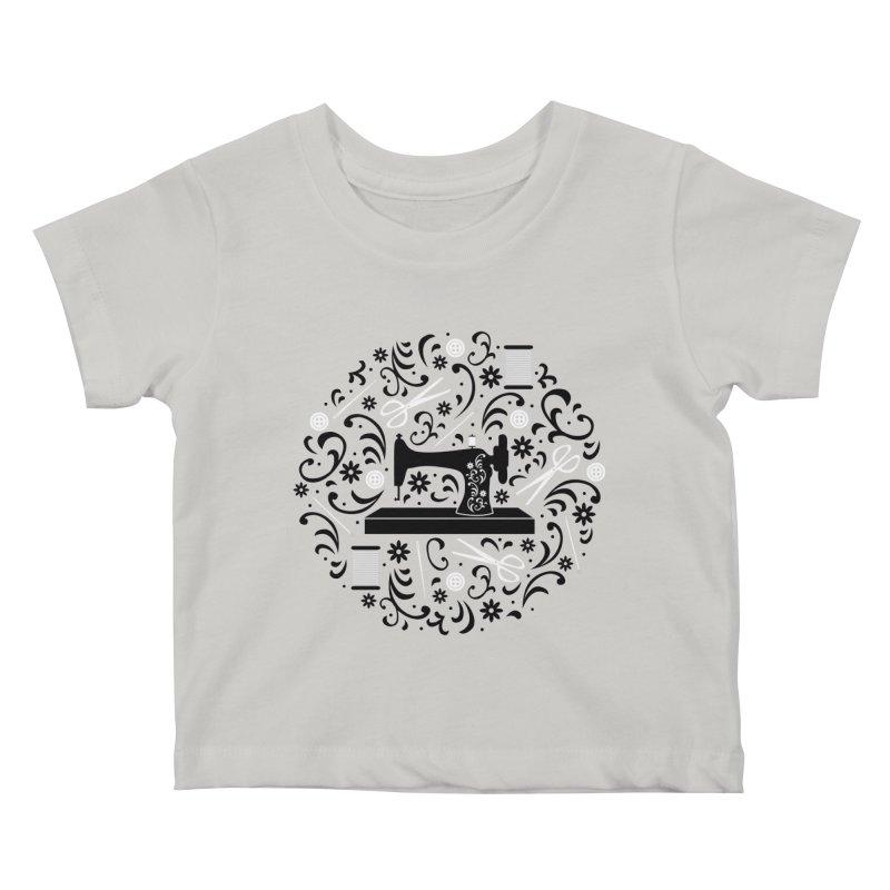 Sewing Essentials Kids Baby T-Shirt by Robyriker Designs - Elishka Jepson