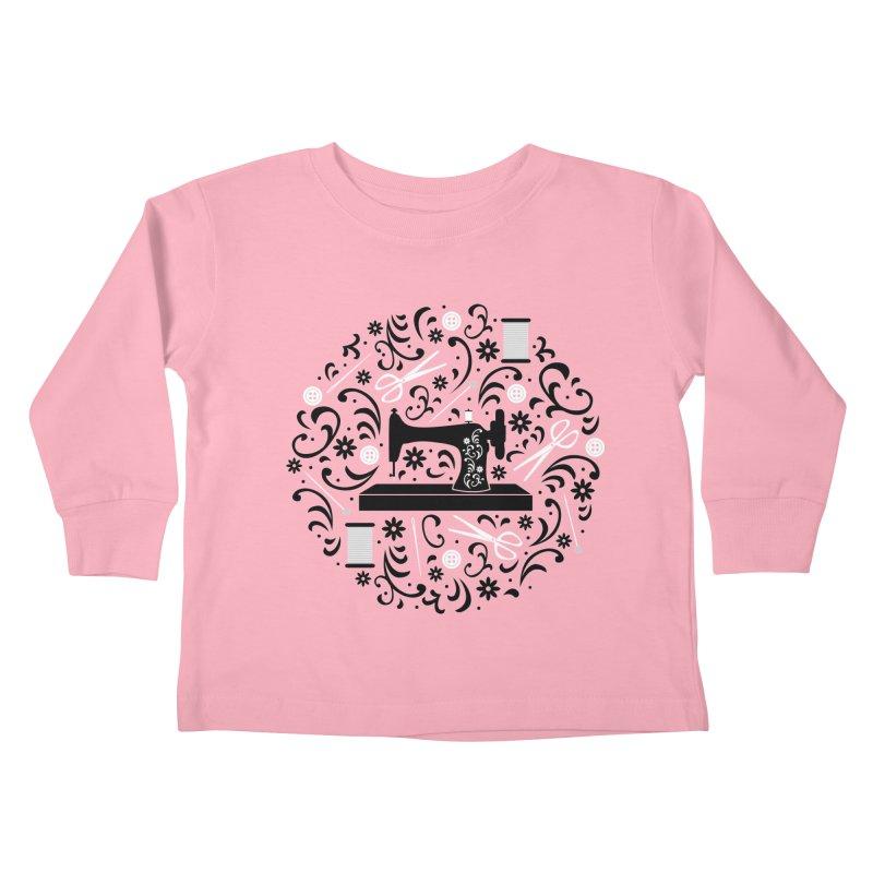 Sewing Essentials Kids Toddler Longsleeve T-Shirt by Robyriker Designs - Elishka Jepson