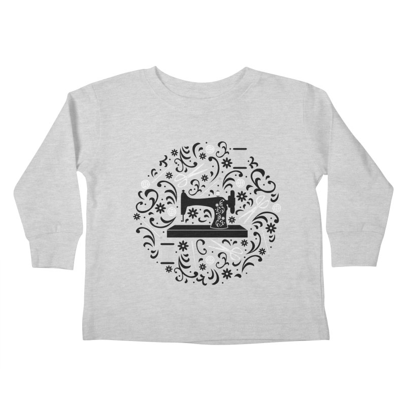Sewing Essentials Kids Toddler Longsleeve T-Shirt by Robyriker Designs - Elishka Jepson