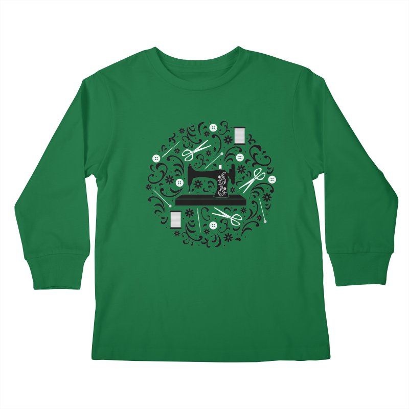 Sewing Essentials Kids Longsleeve T-Shirt by Robyriker Designs - Elishka Jepson