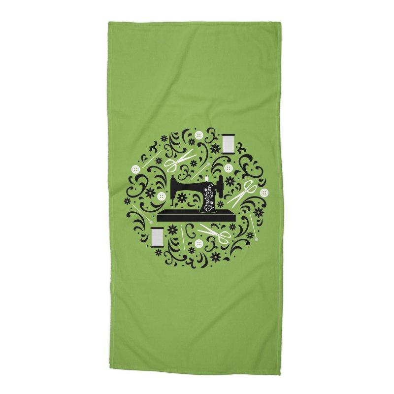 Sewing Essentials Accessories Beach Towel by Robyriker Designs - Elishka Jepson
