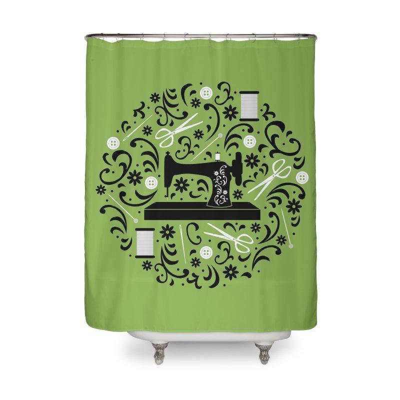 Sewing Essentials Home Shower Curtain by Robyriker Designs - Elishka Jepson