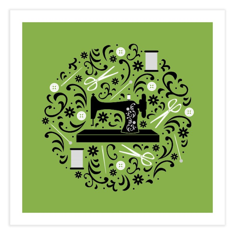 Sewing Essentials Home Fine Art Print by Robyriker Designs - Elishka Jepson