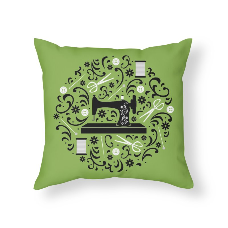 Sewing Essentials Home Throw Pillow by Robyriker Designs - Elishka Jepson