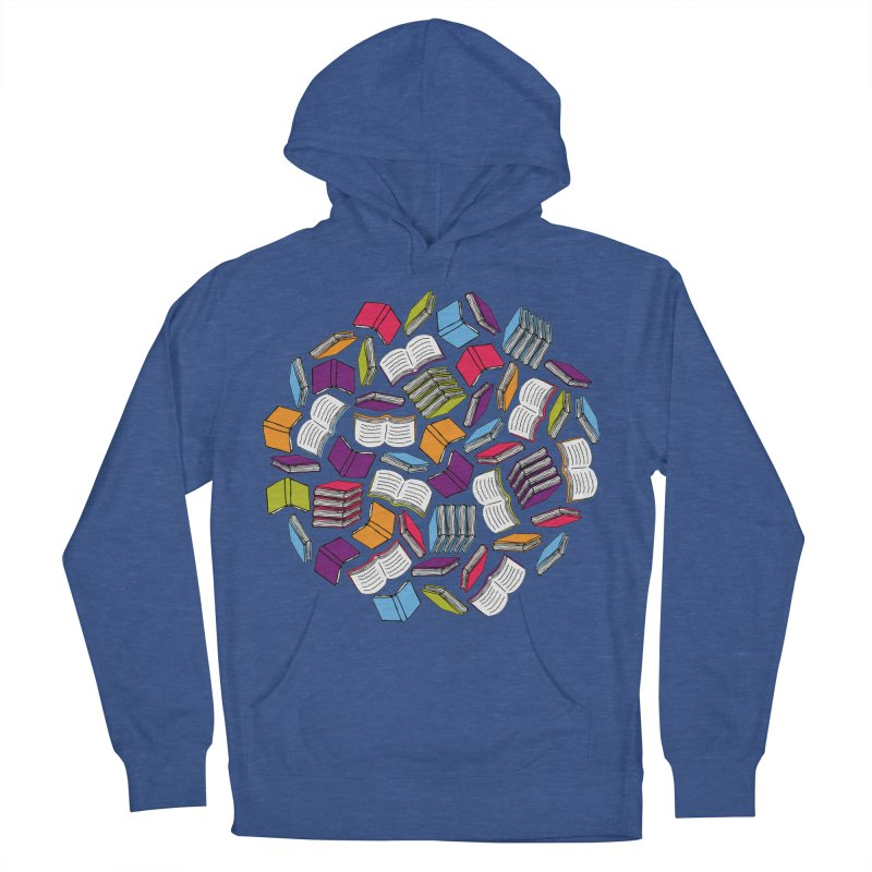 So Many Books... Men's Pullover Hoody by Robyriker Designs - Elishka Jepson
