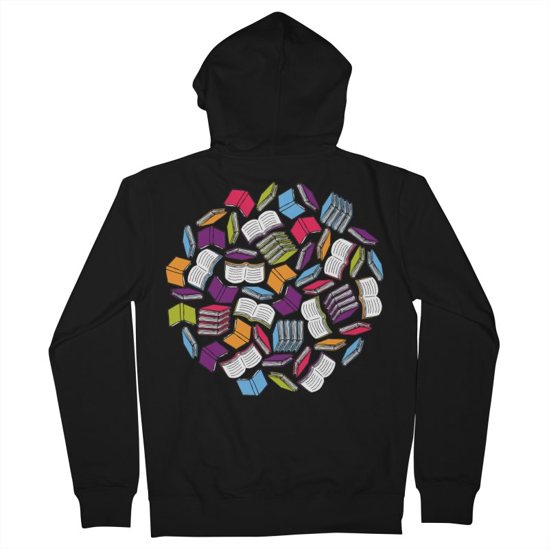 So Many Books... Women's Zip-Up Hoody by Robyriker Designs - Elishka Jepson