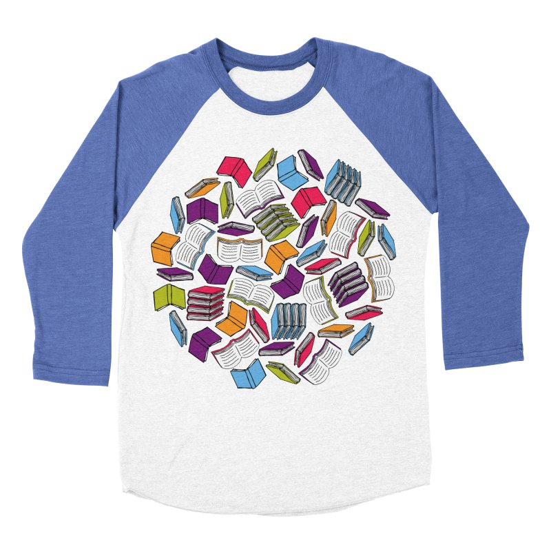 So Many Books... Women's Baseball Triblend T-Shirt by Robyriker Designs - Elishka Jepson