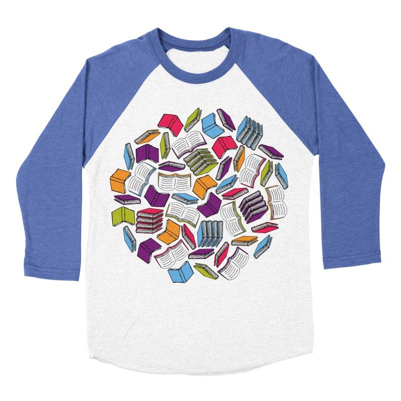 So Many Books... Men's Baseball Triblend T-Shirt by Robyriker Designs - Elishka Jepson
