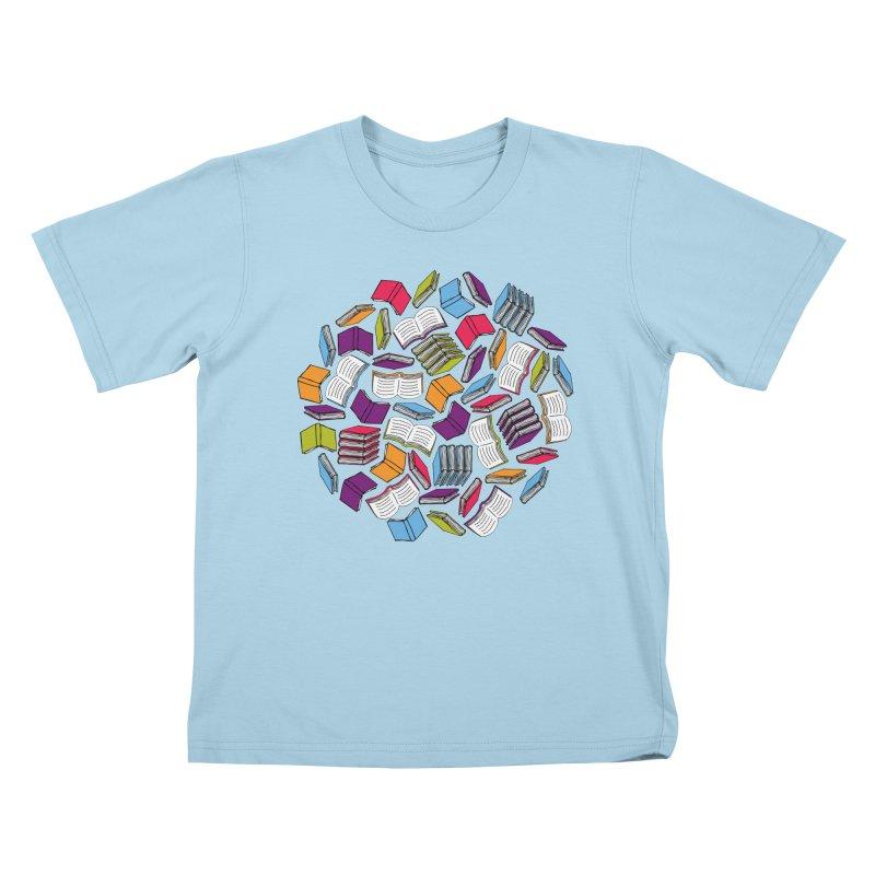 So Many Books... Kids T-shirt by Robyriker Designs - Elishka Jepson