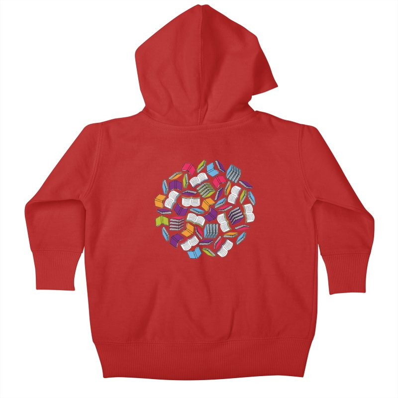 So Many Books... Kids Baby Zip-Up Hoody by Robyriker Designs - Elishka Jepson
