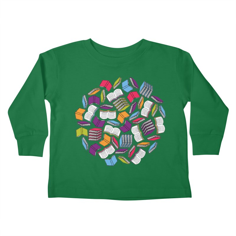 So Many Books... Kids Toddler Longsleeve T-Shirt by Robyriker Designs - Elishka Jepson
