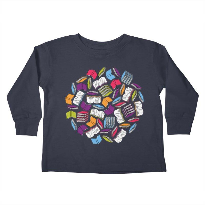So Many Books... Kids Toddler Longsleeve T-Shirt by Robyriker Designs - Elishka Jepson