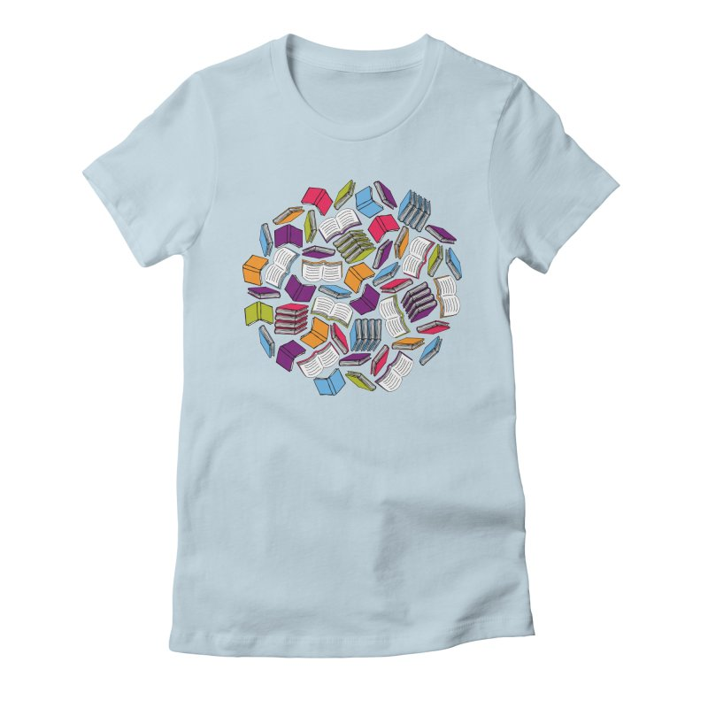 So Many Books... Women's Fitted T-Shirt by Robyriker Designs - Elishka Jepson