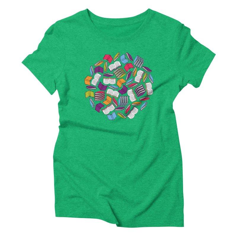 So Many Books... Women's Triblend T-shirt by Robyriker Designs - Elishka Jepson