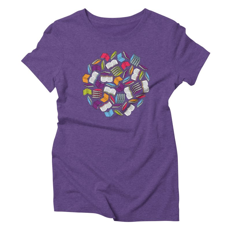 So Many Books... Women's Triblend T-Shirt by Robyriker Designs - Elishka Jepson