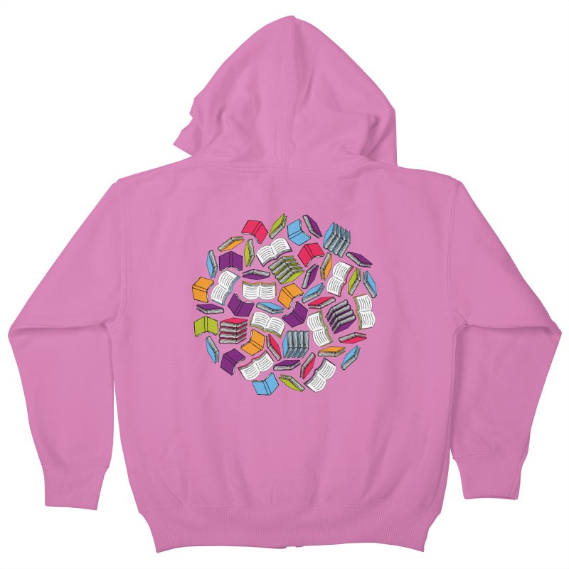 So Many Books... Kids Zip-Up Hoody by Robyriker Designs - Elishka Jepson