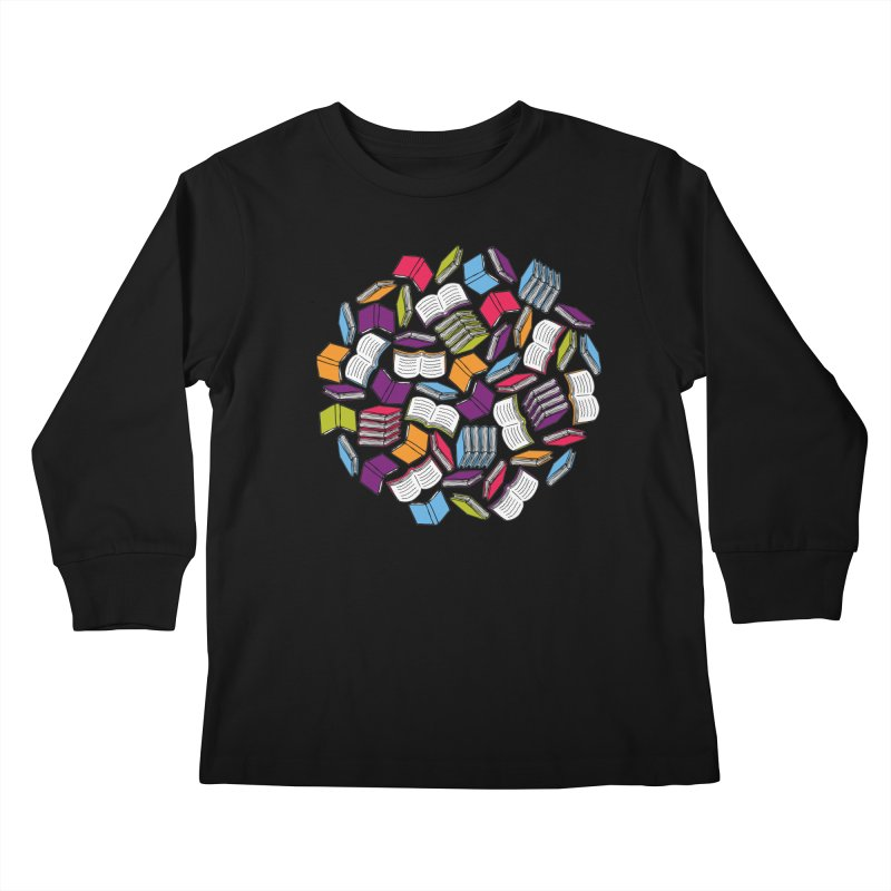 So Many Books... Kids Longsleeve T-Shirt by Robyriker Designs - Elishka Jepson