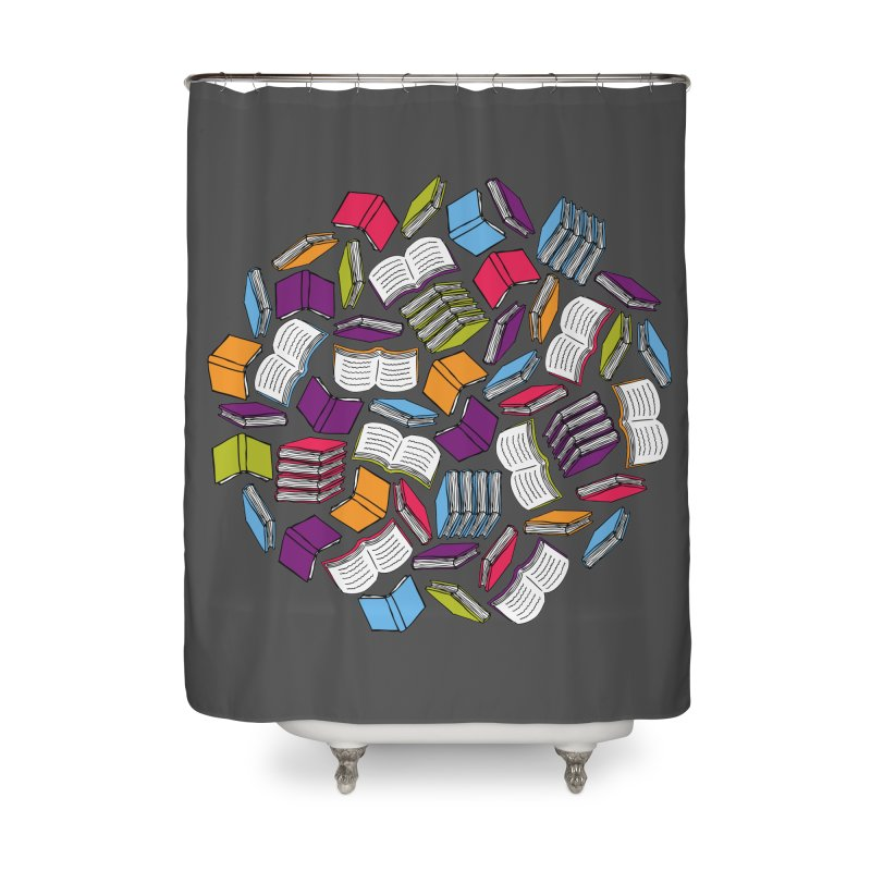 So Many Books... Home Shower Curtain by Robyriker Designs - Elishka Jepson