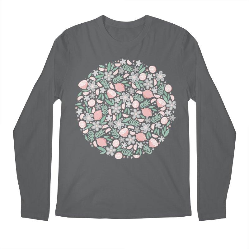 Pink Lemons Men's Longsleeve T-Shirt by Robyriker Designs - Elishka Jepson