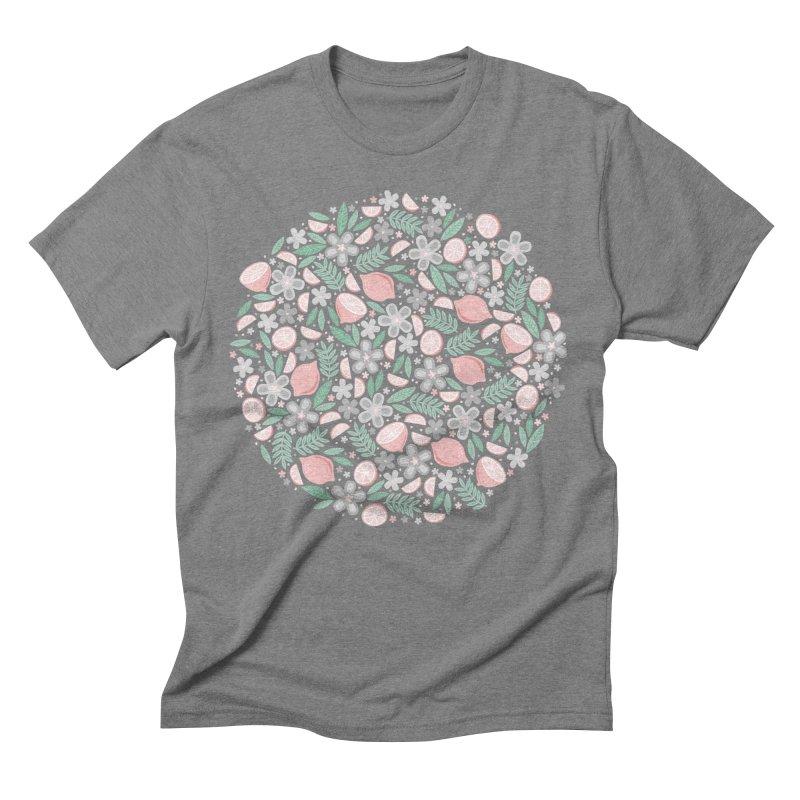 Pink Lemons Men's Triblend T-Shirt by Robyriker Designs - Elishka Jepson