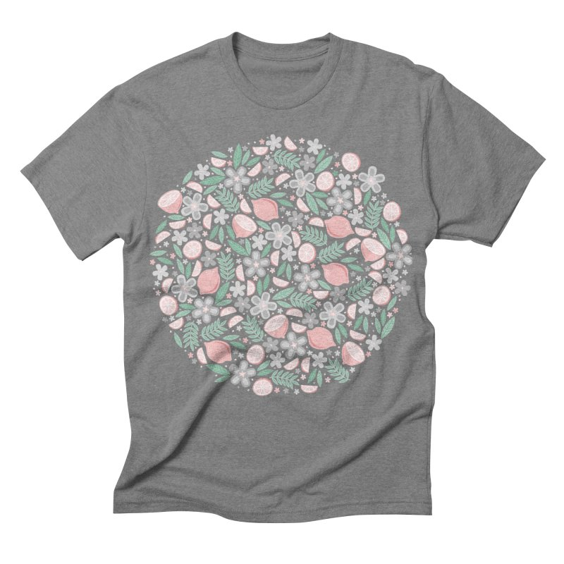 Pink Lemons Men's Triblend T-shirt by Robyriker Designs - Elishka Jepson