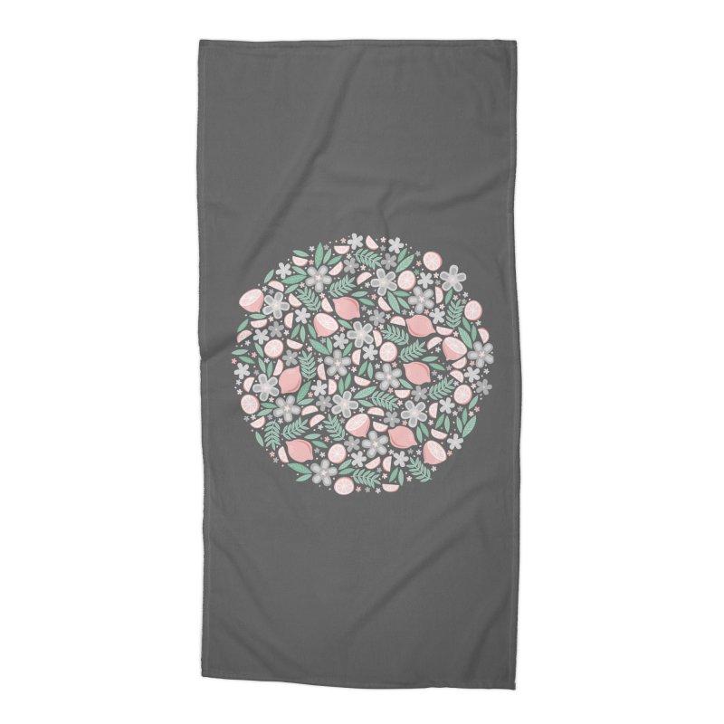 Pink Lemons Accessories Beach Towel by Robyriker Designs - Elishka Jepson