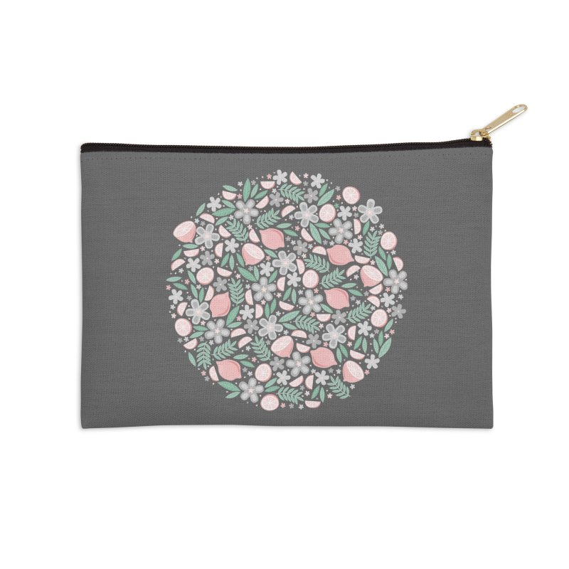 Pink Lemons Accessories Zip Pouch by Robyriker Designs - Elishka Jepson
