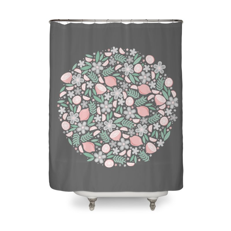 Pink Lemons Home Shower Curtain by Robyriker Designs - Elishka Jepson