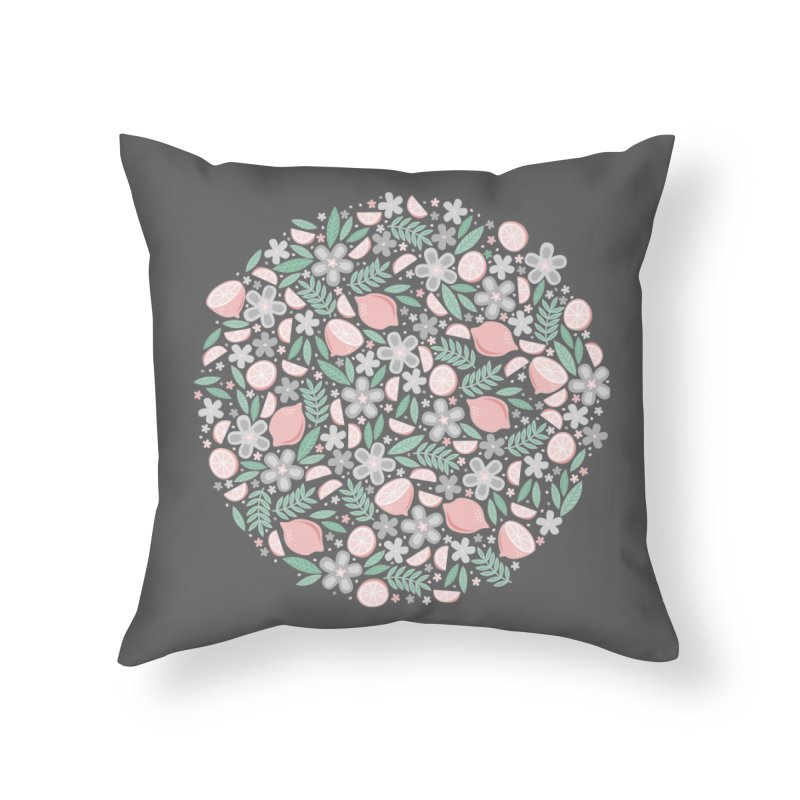 Pink Lemons Home Throw Pillow by Robyriker Designs - Elishka Jepson