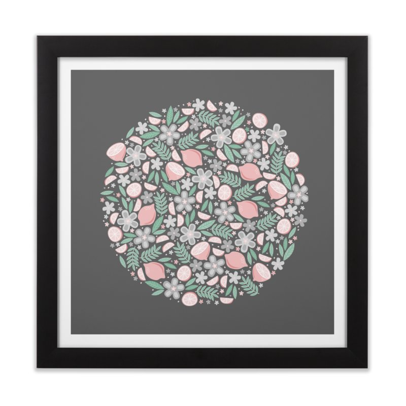 Pink Lemons Home Framed Fine Art Print by Robyriker Designs - Elishka Jepson