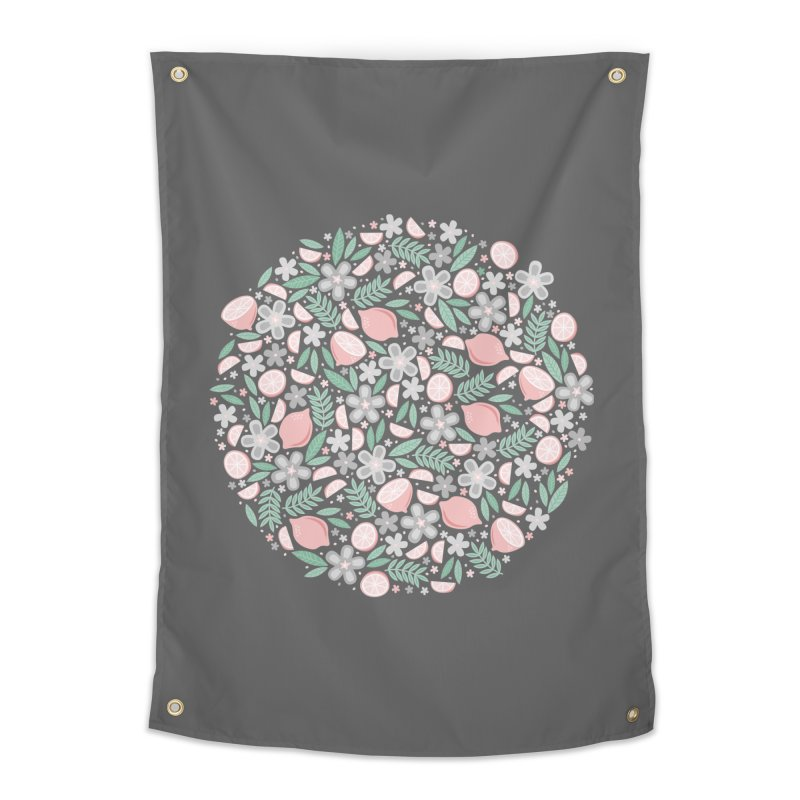Pink Lemons Home Tapestry by Robyriker Designs - Elishka Jepson