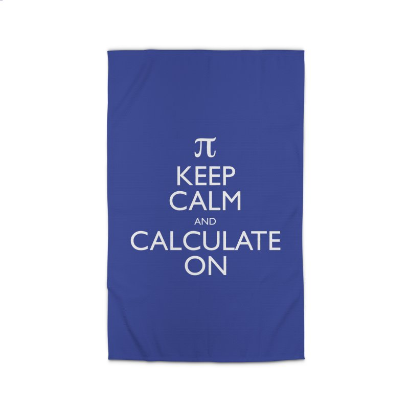 Keep Calm and Calculate On Home Rug by Robyriker Designs - Elishka Jepson