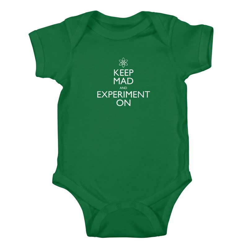Keep Mad and Experiment On Kids Baby Bodysuit by Robyriker Designs - Elishka Jepson