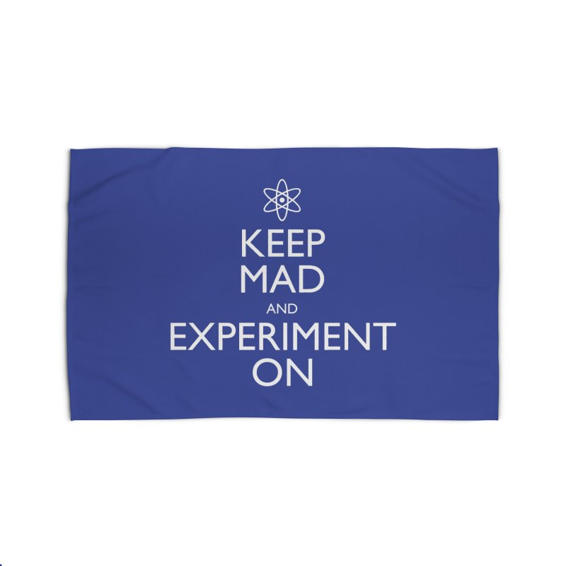 Keep Mad and Experiment On Home Rug by Robyriker Designs - Elishka Jepson