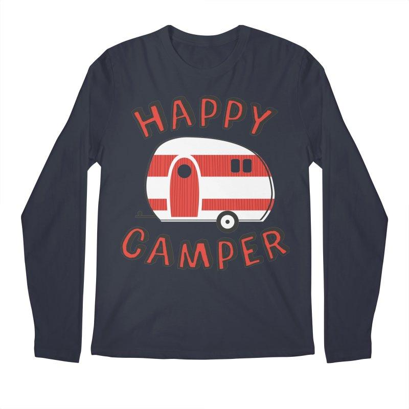 Happy Camper Men's Longsleeve T-Shirt by Robyriker Designs - Elishka Jepson
