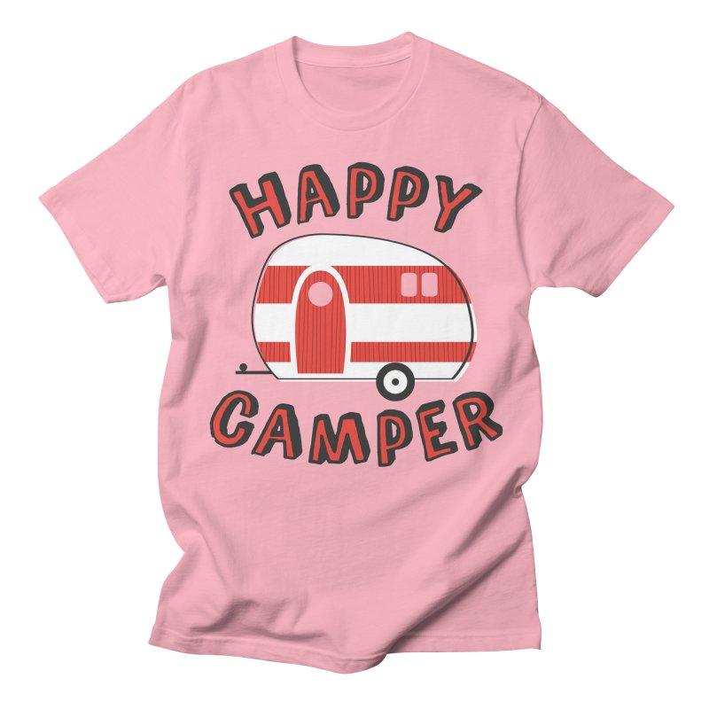 Happy Camper Women's Unisex T-Shirt by Robyriker Designs - Elishka Jepson