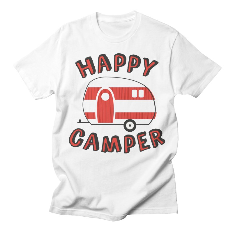 Happy Camper Men's T-Shirt by Robyriker Designs - Elishka Jepson