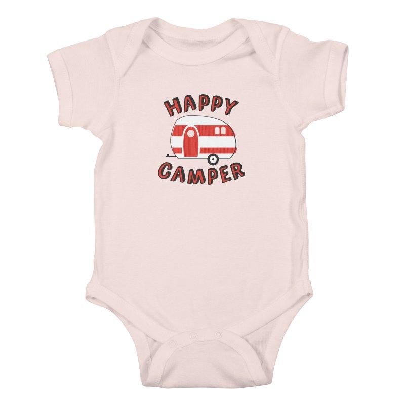 Happy Camper Kids Baby Bodysuit by Robyriker Designs - Elishka Jepson