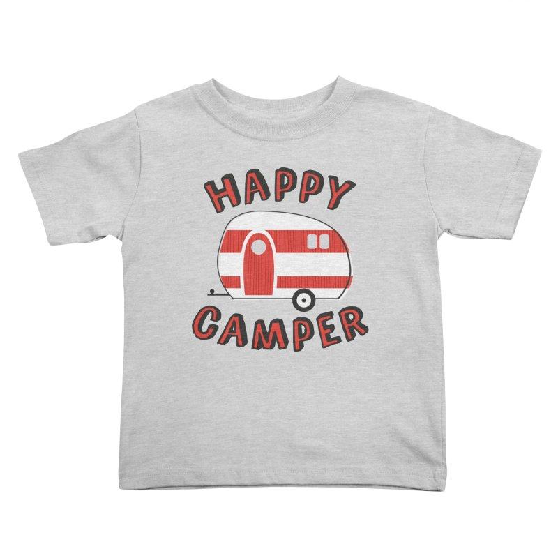 Happy Camper Kids Toddler T-Shirt by Robyriker Designs - Elishka Jepson