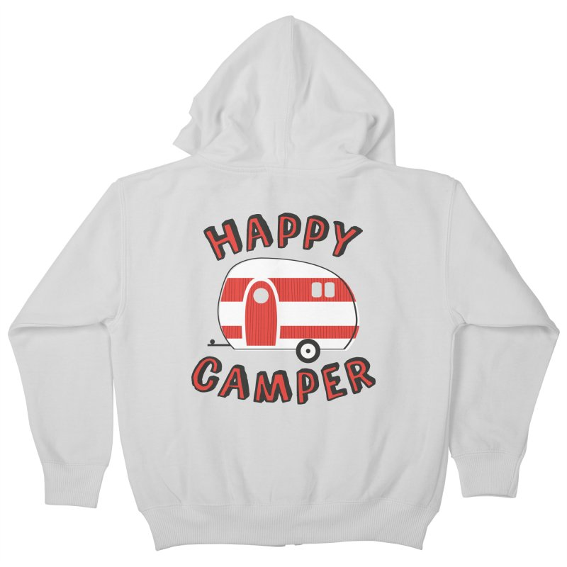 Happy Camper Kids Zip-Up Hoody by Robyriker Designs - Elishka Jepson