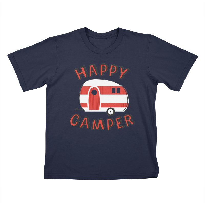 Happy Camper Kids T-Shirt by Robyriker Designs - Elishka Jepson