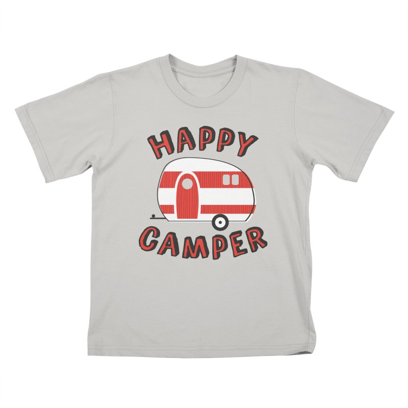 Happy Camper Kids T-Shirt by Robyriker Designs - Elishka Jepson